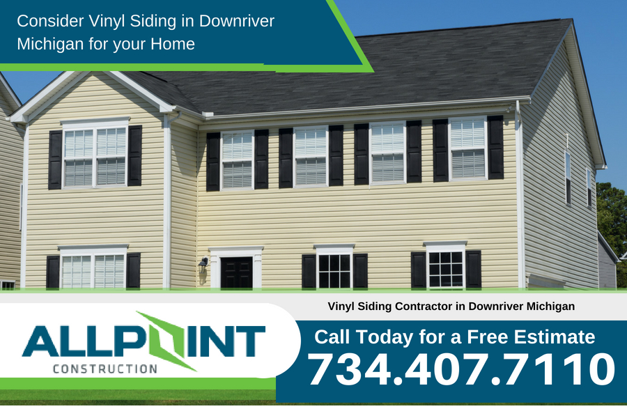 Consider Vinyl Siding in Downriver Michigan for your Home