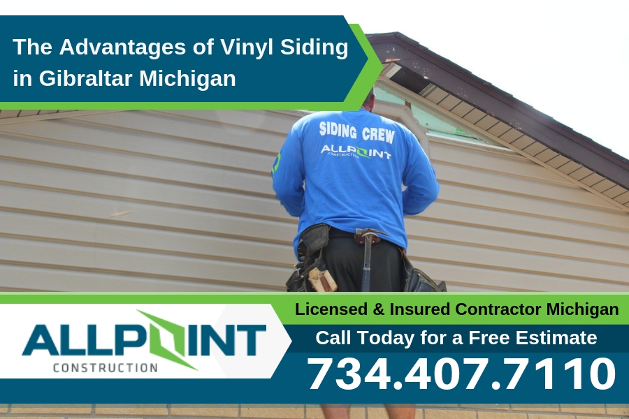 The Advantages of Vinyl Siding in Gibraltar Michigan